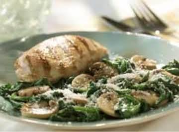 Sautéed Mushrooms with Spinach