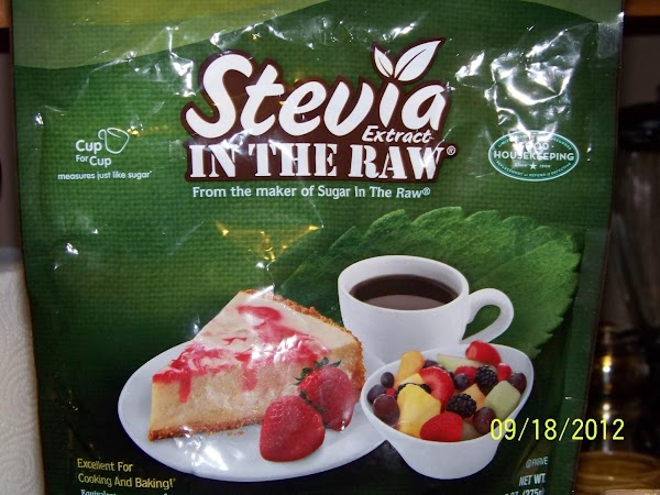Add one cup of Stevia sweetener or to desired sweetness.