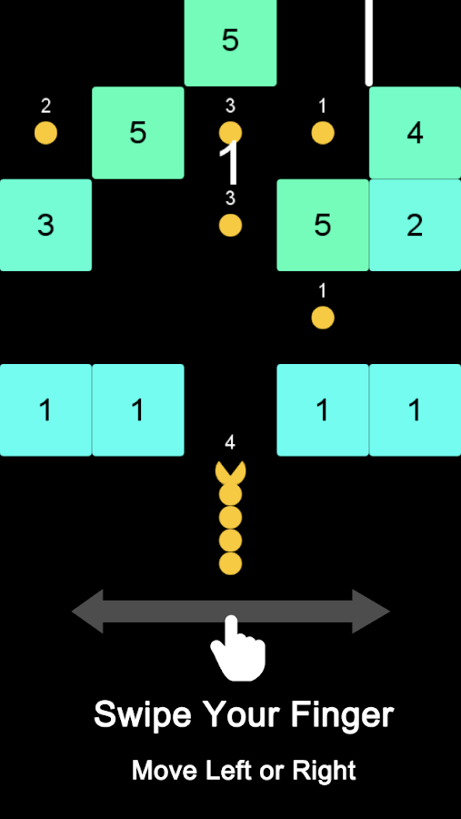 PAC-Slither vs Block - Snake Go Math Game- screenshot