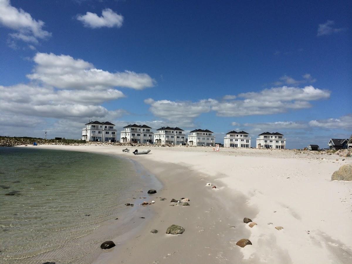 Blick auf die Weißen Strandvillen und mein STRAND HUS