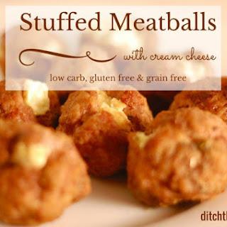 Cream Cheese Stuffed Meatballs