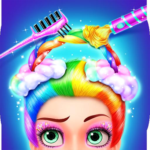 Rainbow Hair Salon - Dress Up (game)