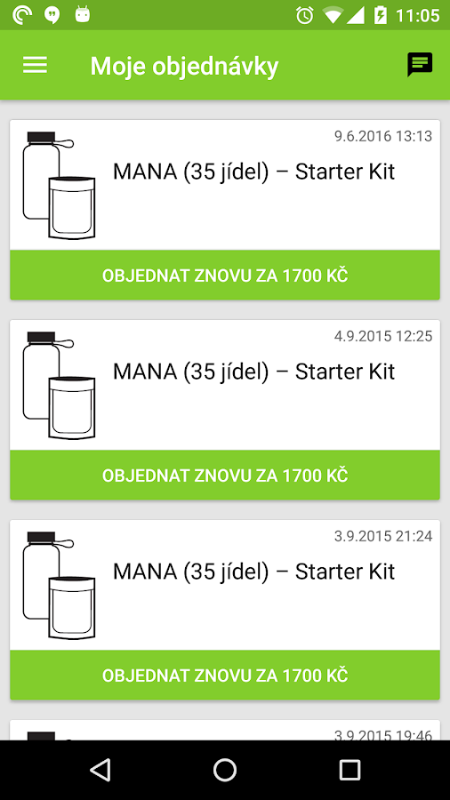 Moje MANA- screenshot