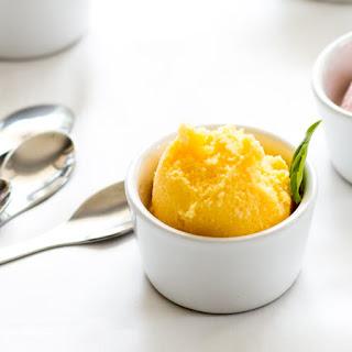 Mango and Basil Frozen Yoghurt Recipe