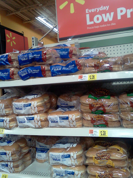 Photo: Annnd some buns!  Can I just say that I LOVE that Walmart now makes their own brand whole wheat buns for so much cheaper.  Thank you!!! :)