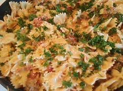 Bow Tie Pasta With Creamy Sausage Sause Recipe