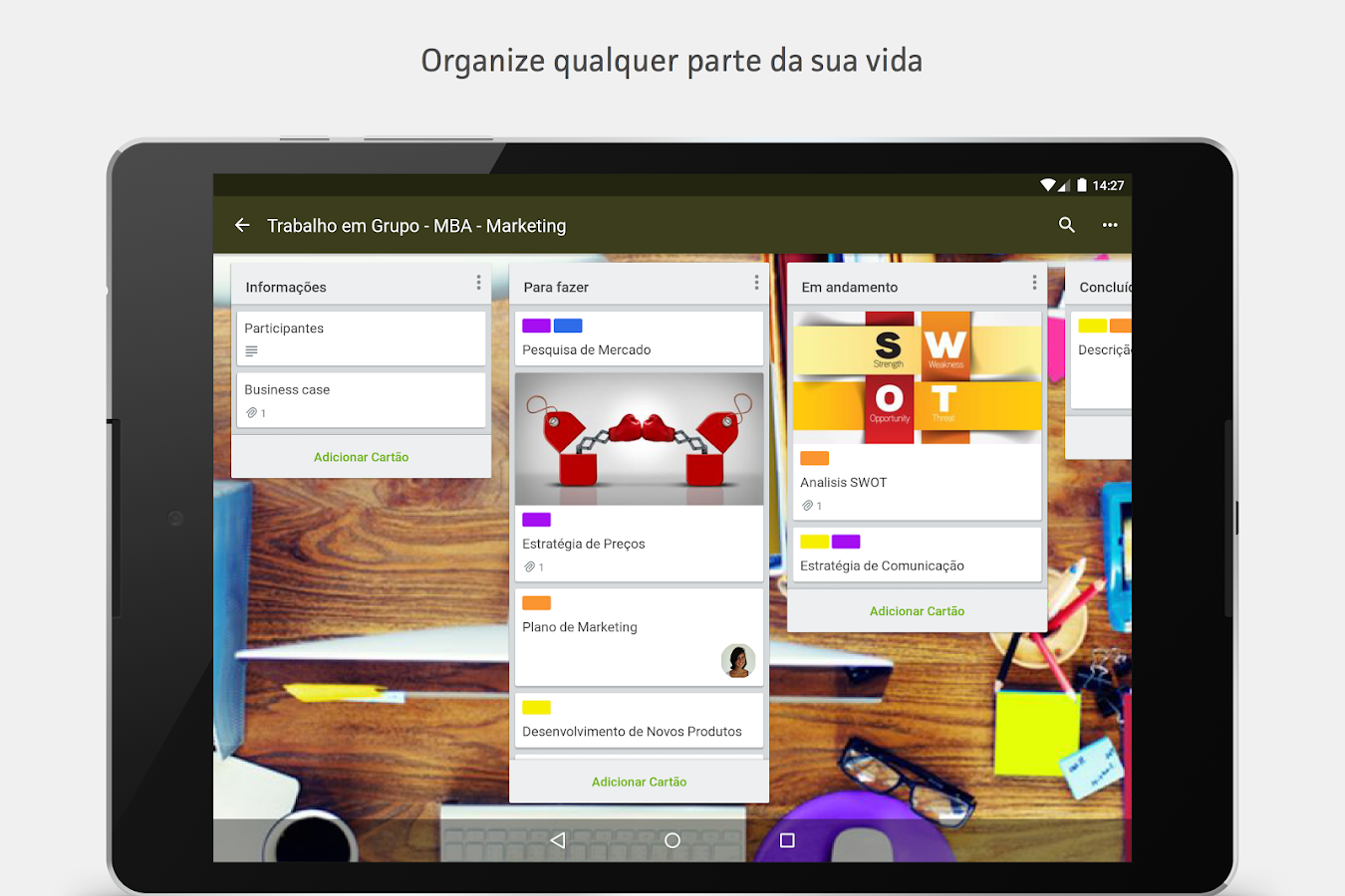 Trello: captura de tela