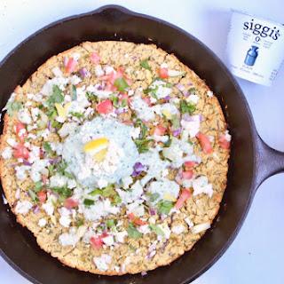 Baked Falafel Pizza with Lemon Tahini Tzatziki Recipe