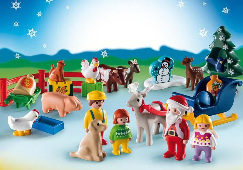 """Contenido de Playmobil® 9009 Calendario de Adviento 1.2.3. """"Granja de Animales"""""""