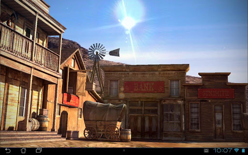 Wild West 3D Live Wallpaper app for Android screenshot