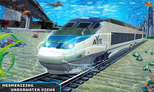 Underwater Bullet Train Simulator : Train Games 1.6.0 screenshots 1