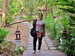Photo: Khun Gayson – the Fern Resort manager wearing a Karen hilltribe top
