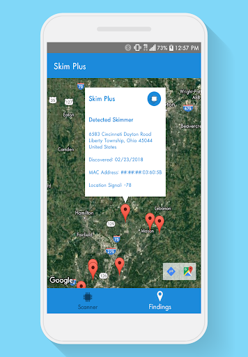 Screenshot for Skim Plus (Bluetooth Skimmer Detection) in United States Play Store