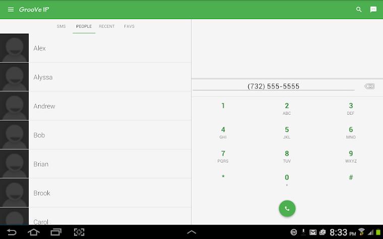 GrooVe IP VoIP Calls & Text Screenshot