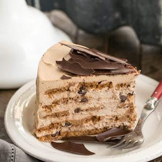 Mocha Chocolate Chip Cookie Icebox Cake #SundaySupper.