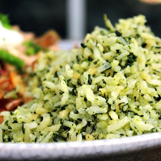 Green Mexican Rice (Arroz Verde)