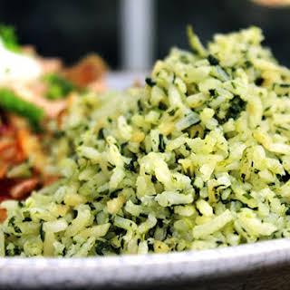 Green Mexican Rice (Arroz Verde).