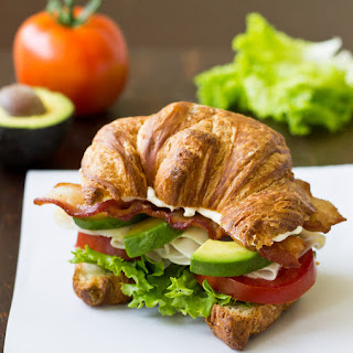 Turkey Avocado BLT Croissant Sandwich