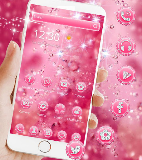 Pink Diamond Theme Wallpaper Glitter 1.1.2 1