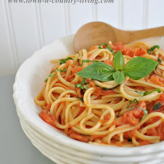 Best Ever Spaghetti with Tomato and Basil.
