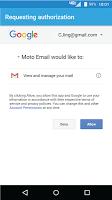 screenshot of Moto Email