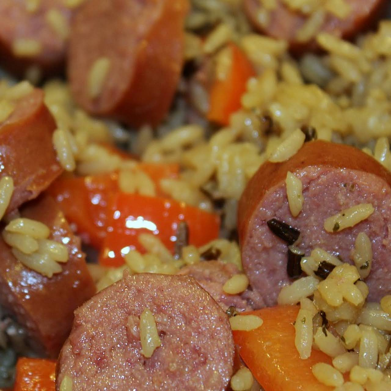 Easy Sausage Rice Skillet Dinner