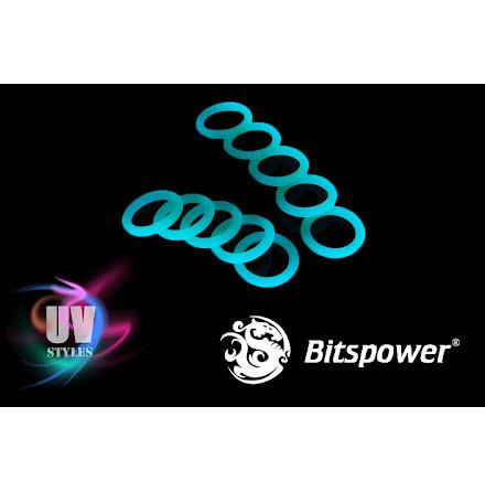 """Bitspower O-ring for 1/4""""BSP gjenger, 10 stk, UV Green"""