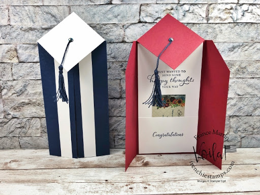How to make a Slim Card for graduation with gift cardholder