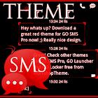 Theme Red Neon GO SMS icon