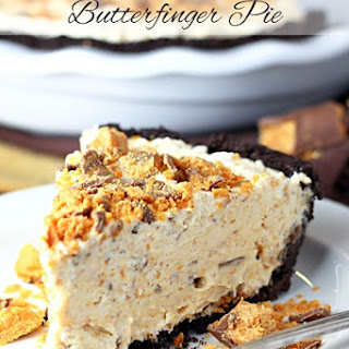 Frozen Butterfinger Pie.