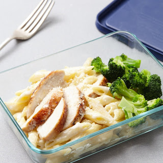 DIY Chicken & Broccoli Alfredo Microwave Meal