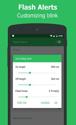 Flash Alerts on Call & Message - screenshot