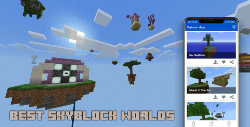 Download Mod SkyBlock Maps for MCPE 1.7 1