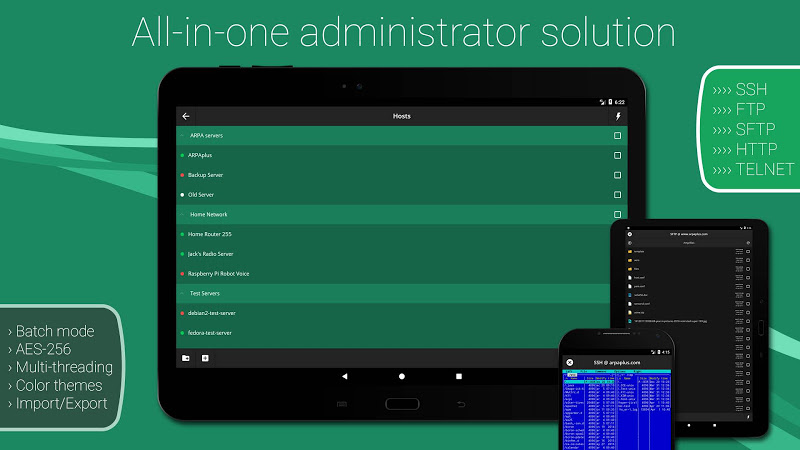 SSH/SFTP/FTP/TELNET Advanced Client - Admin Hands Screenshot 0