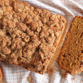 Brown Butter Pumpkin Bread With Streusel Topping