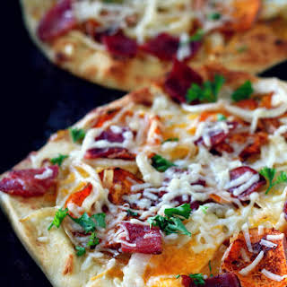 Fall Harvest Naan Pizza.