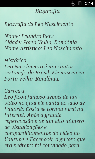 Screenshots of Leo Nascimento com um suspiro for iPhone