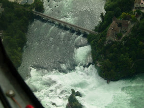 Photo: We are now just above the waterfall, making a right turn so that we can see better http://www.swiss-flight.net