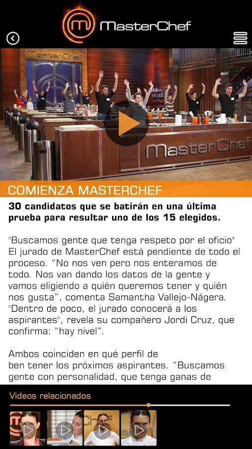 MasterChef - screenshot