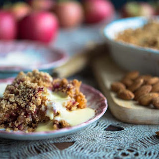 Apple & Raspberry Almond Crumble