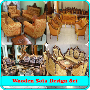 sofa set design wooden ideas - náhled