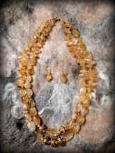 Photo: # 201 Citrine, gold vermeil SOLD