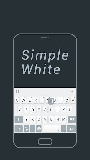 Simple White Keyboard Theme