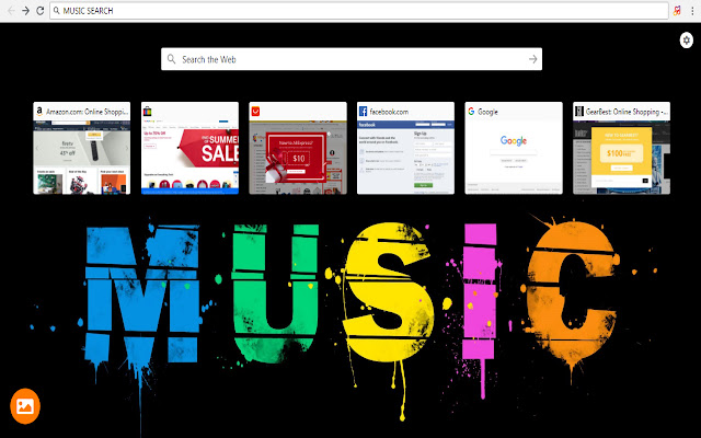 Music Search and HD Wallpapers - New Tab