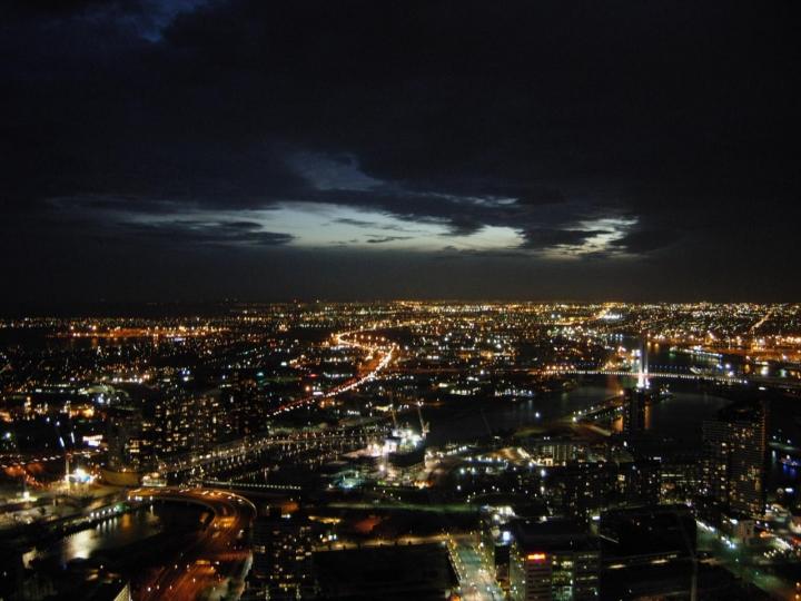 Melbourne, notturno invernale dall'alto di gualtiero.72