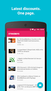 StrikeBuys - Offers, Discounts- screenshot thumbnail