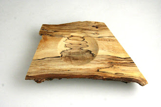 "Photo: Gary Guenther - Chain Saw Cutoff Bowl ""Setting Sun"" - 6 1/2"" x 4"" x 1"" - Spalted Maple"