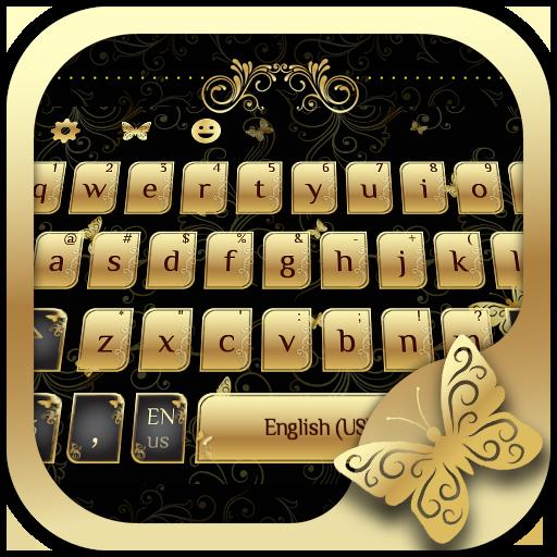 Golden Butterfly Keyboard