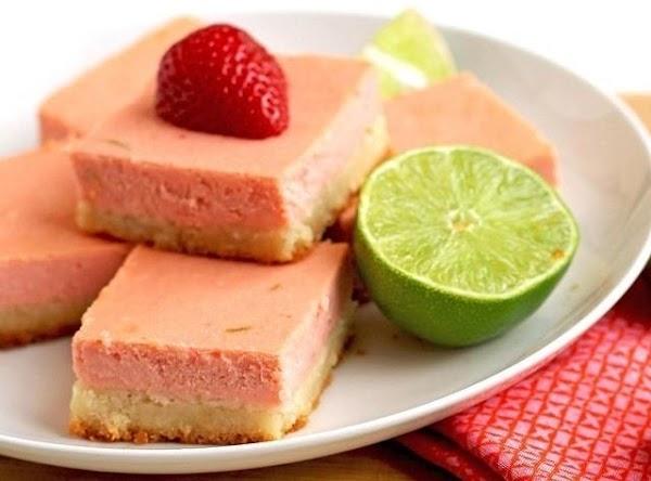 Strawberry Margarita Cheesecake Bars Recipe