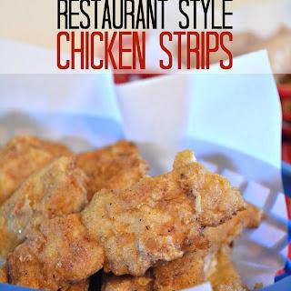 Homemade Popcorn Chicken and restaurant style chicken strips